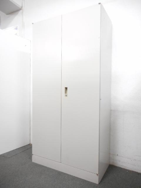 【商品入替に伴いお買い得!】■両開き書庫【人気のH1800mmタイプ】アイボリー ■A4サイズ5段収納対応!