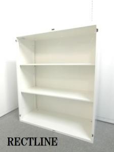 【訳あり商品:オープン書庫】■オカムラ製 ■ホワイト ■オープン書庫 ■白 ■収納 ■国産メーカー