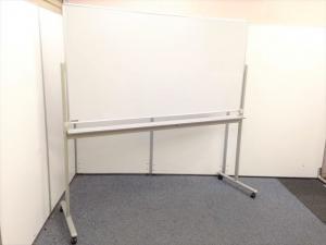 【会議室の必須アイテム】ホワイトボード(両面)自立式で移動も楽!|その他(中古)