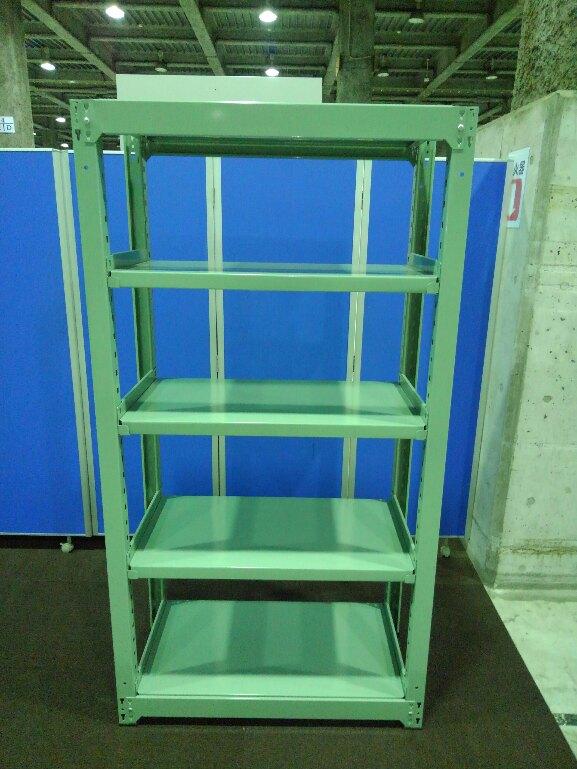 グリーン色の中古ラックが2台入荷しました!! 天地5段 耐荷重:段/300kg ボルトレスなので組立も簡単! W1855タイプも入荷しております。 ※マテハン本舗の中古商品は、千葉県柏市に在庫がございます。