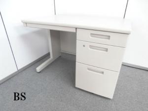 1台限定!!【デザイン性と機能性がワーカーに快適なオフィスワークを実現させてくれる片袖机です!!】■ニューグレー ■国内メーカー