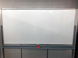 【1台限定】自立式ホワイトボード 両面タイプ|-(中古)