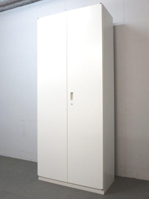 【多人数用ロッカー】■ワードローブ ホワイト ■シンラインシリーズ【両開き扉】
