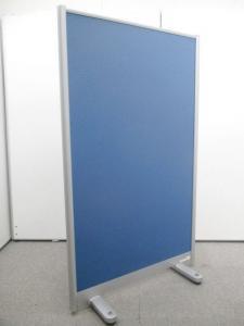 【丁度良い高さH1500mm】定番ブルーのキャスター付き パーテーション|その他シリーズ(中古)