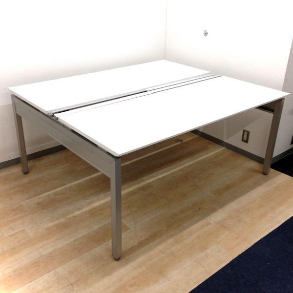 【ミーティングテーブルとしても!】4名様での使用がオススメ、幅広く使えるフリーアドレスデスク【イトーキ・インターリンク】