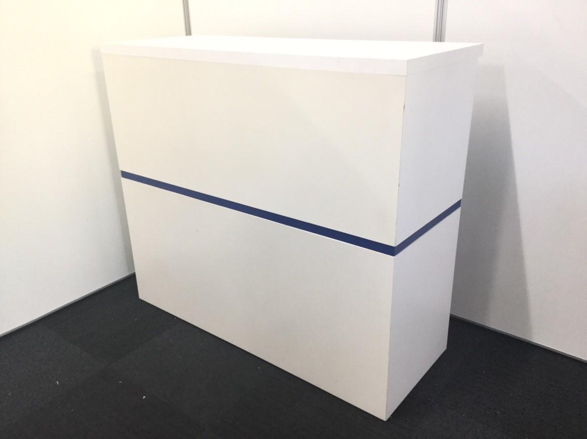【限定1台レア商品!】資料やカタログも収納可能!ホワイトカラーのハイカウンター入荷!