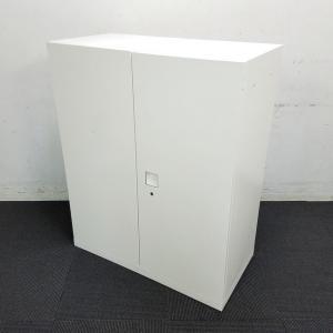 【2台】人気のホワイト書庫が入荷!オカムラのロングセラー商品!中古 オフィス家具 キャビネット リサイクル