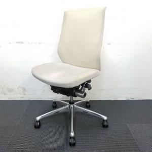 【4脚入荷】人気のホワイトカラー!ただ黄ばみがある為にお安くご提供☆中古 高級チェア オフィスチェア