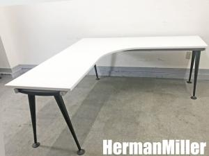 HermanMiller/ハーマンミラー アバック エンバイロメンツテーブル ワーキングL字デスク| (中古)