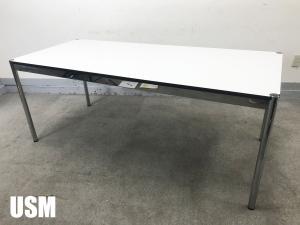 USMハラー ハラーテーブル W1750 ラミネートパールグレイ hhstyle