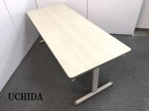 16台限定!!【木目カラーの折畳みミーティングテーブルの入荷です!!】■おつとめ品