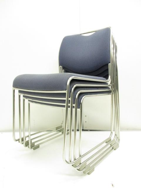 【お得なセット商品!!】会議室や集会所にオススメ!!パイプ椅子よりも頑丈なスタッキングチェア!!