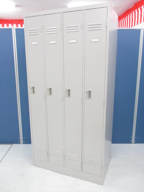 【4台入荷!】急な増員時もこれでOK!更衣室に4人用ロッカー■お一人様横幅約22cm