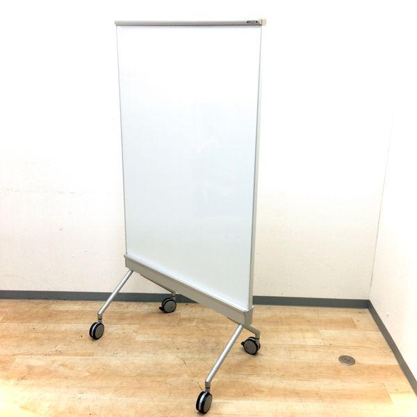 【1台入荷!】大きいめの伝言板にぴったりサイズ!!オカムラ製のホワイトボード(片面スクリーン対応)