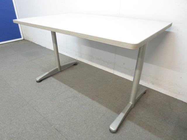 【スッキリとしたデザイン!】■ミーティングテーブル ■W1200mmサイズ(4人用)T字型脚タイプ