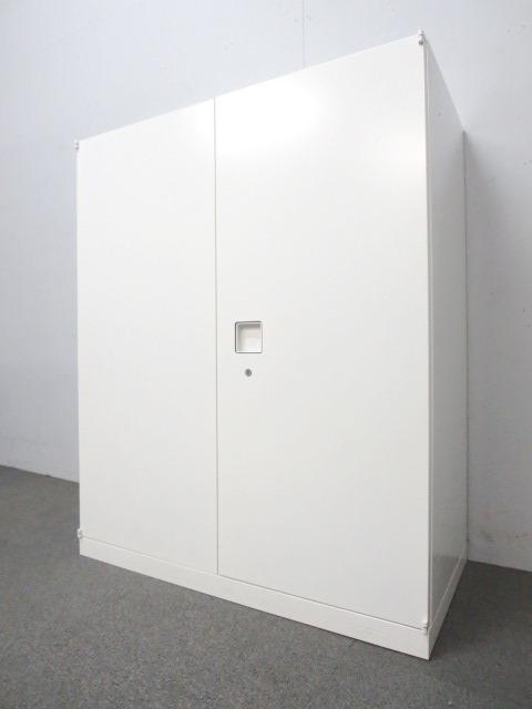 【美しいデザインが人気!】■Rectline(レクトライン)両開き書庫 ■W800mmタイプ ホワイトカラー