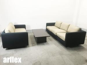 arflex/アルフレックス 応接ソファセット クアドラ 2Pソファ&3Pソファ&センターテーブル