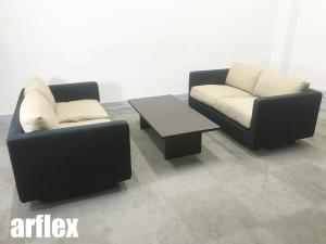 arflex/アルフレックス 応接ソファセット クアドラ 2Pソファ&センターテーブル