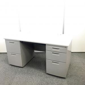【事務机】イトーキ製のオフィスデスク 両袖タイプで収納力抜群です
