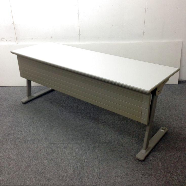 【6台入荷】オカムラ製 束ねて収納可能!省スペース化に最適なテーブルです☆ オフィス家具 中古