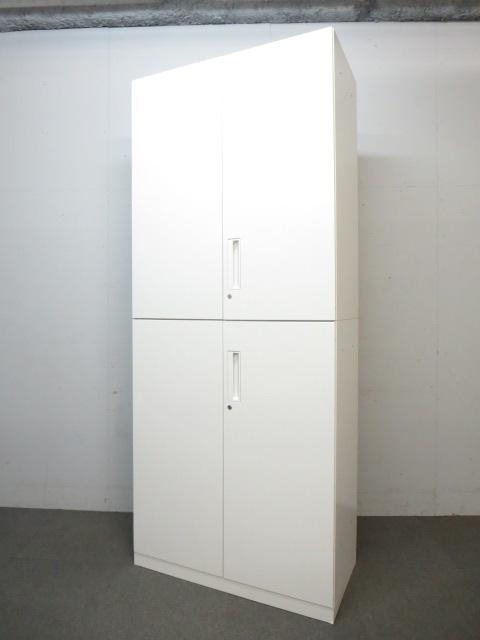 【いま川崎で一番白い書庫!】■コクヨ製 上下両開き書庫セット■エディア(EDIA)シリーズ ホワイトキャビネット
