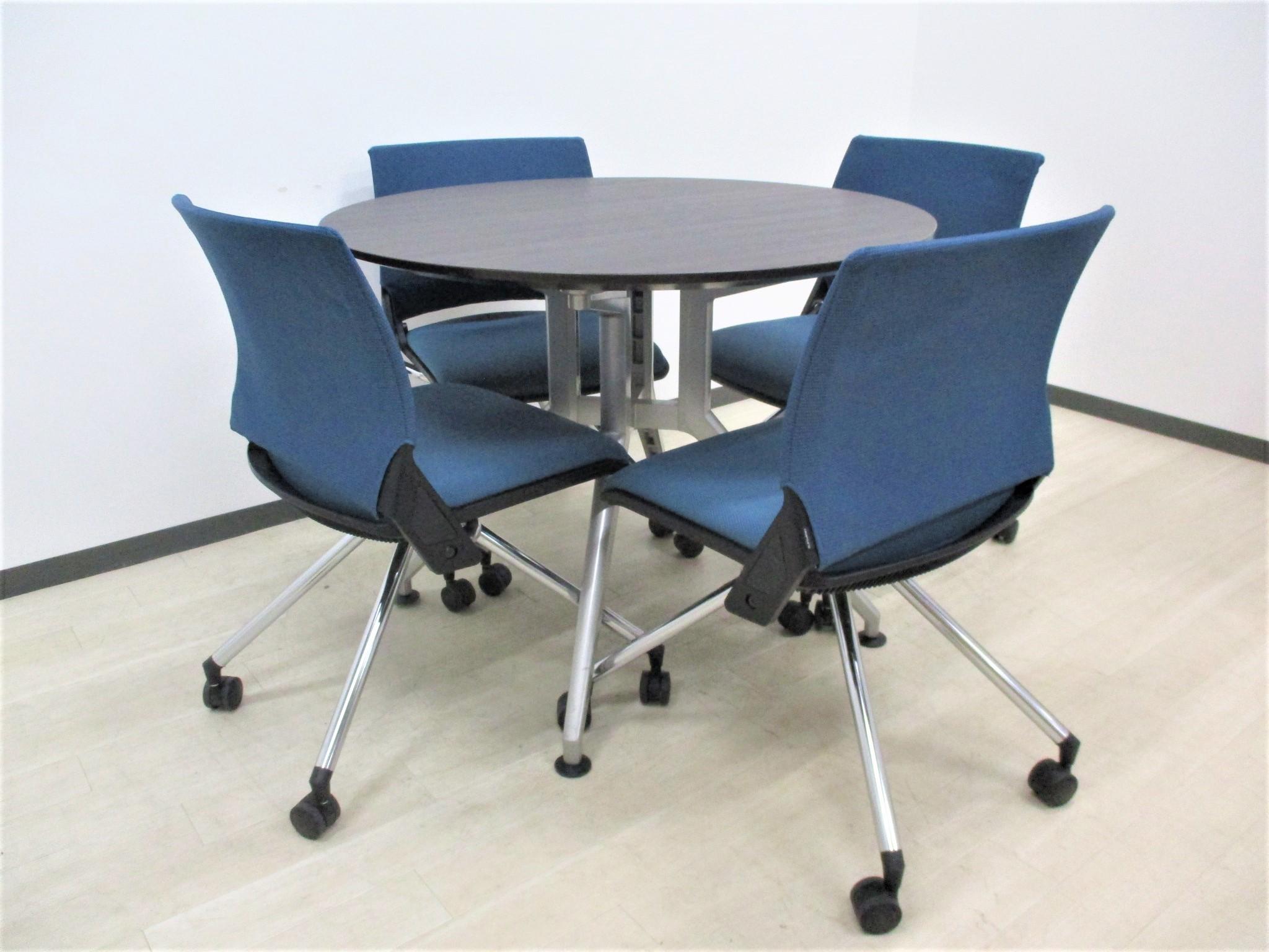 【人気DDDシリーズセット!】オシャレな丸テーブルが入荷!オフィスでも商談でも様になります!
