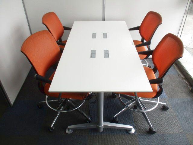 【店長おすすめミーティングセット】上下昇降ミーティングテーブル&チェア【色が明るく華やかに!】