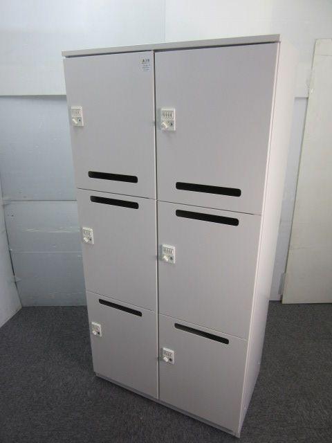 ◆数量2台 メールボックス(6人用ロッカー)◆~イトーキ製~1つ1つがダイヤル式なので紛失する心配も要りません!