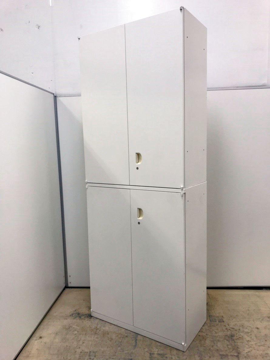【1台入荷】スリムタイプ W800 オカムラ製 上下両開き書庫セット!!