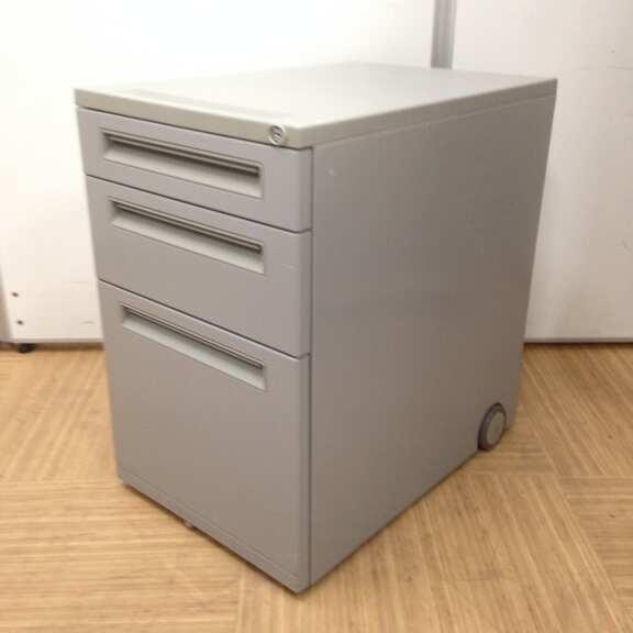 【8台入荷!】■ウチダ製・3段ワゴン ■FEED(フィード)シリーズ ■グレーカラー デスク回りの収納に最適なアイテム!