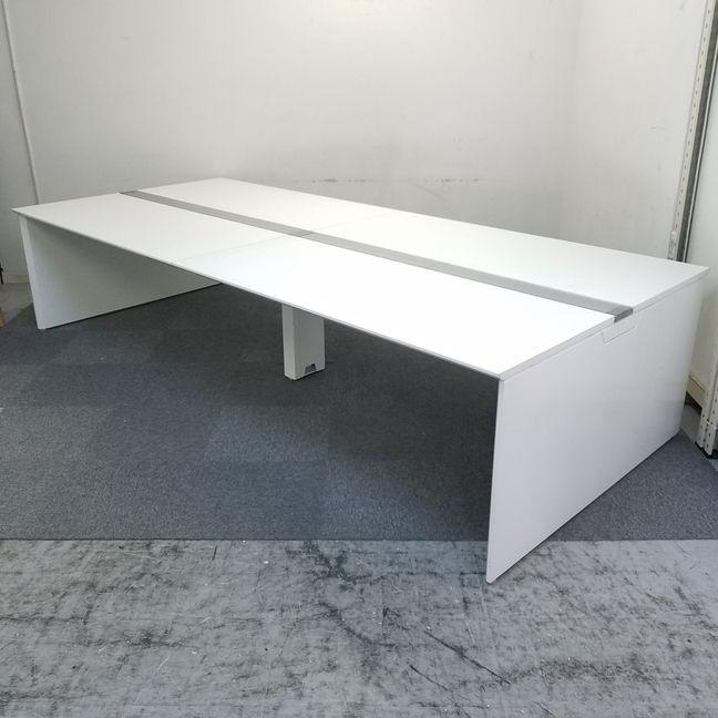 【フリーアドレスデスク】|【4~6名使用推奨/W3200】【フリーアドレスデスク】|【高級】|【ホワイト】|W3200mm(W1600×2)サイズです!
