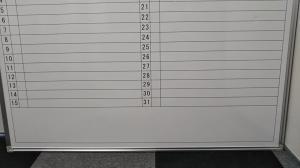 【ワケ有商品!!凹み・黒線擦れ有、大特価!!】予定を記入・管理出来る行動予定表、壁掛けタイプです!!|その他シリーズ(中古)