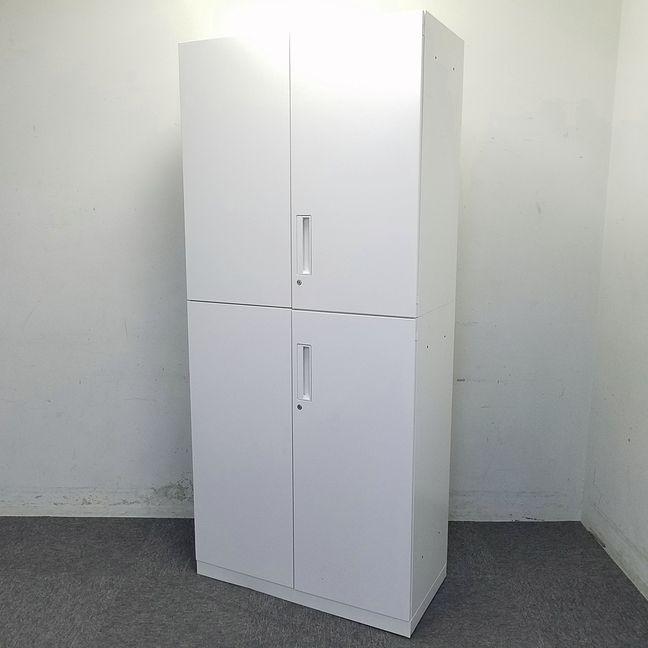 【4セット入荷!】両開き書庫上下セット|ハイキャビネット|ホワイトカラーでオフィスも明るくなります!【コクヨ製】