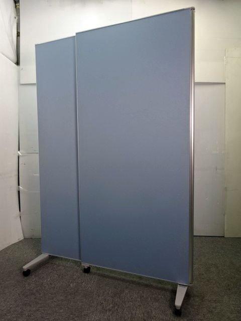 ◆レア・限定1名◆~2つ折ハイパーテーション【800㎜・1200mm】~トーンの落ち着いたブルー色なのでオフィスでも 目立ち過ぎず◎
