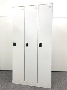 【良品!】PLUS製3人用ロッカー人気のホワイトカラー1台限定入荷!【ワケあり大特価!】