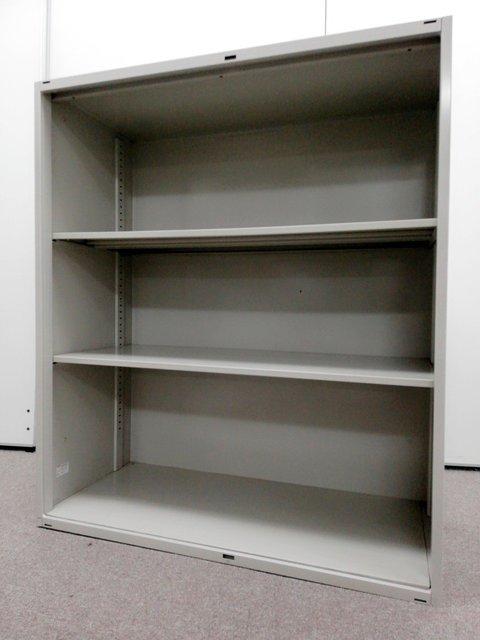 【両開き書庫→オープン書庫に!】扉の跡がありますが気にならない!と言う方いかがでしょうか!【値下品】