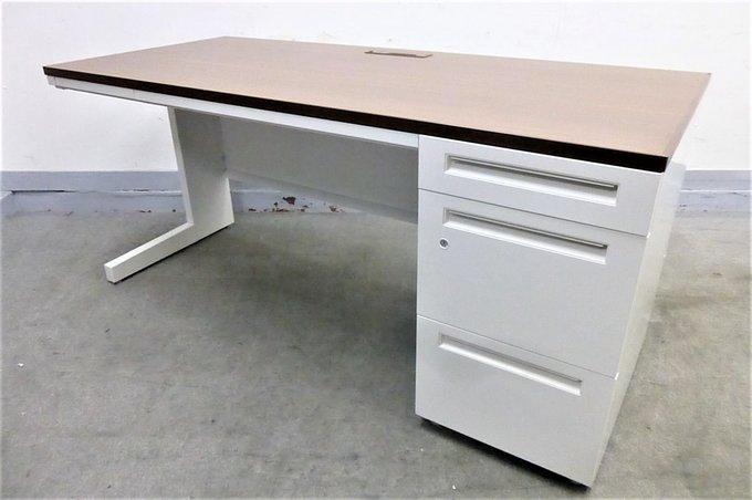 【片袖机】W1600で広々ゆったり!天板ナチュラルでおしゃれに!