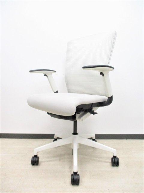 【美品ホワイトグレー】人気のメッシュチェア!明るいオフィス作れます!