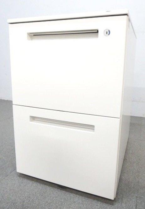 【ファイル書類整理に!】■イトーキ製 2段ワゴン ホワイト【デスクサイドキャビネット】