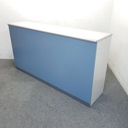 【1台限定】ウチダ製|ハイカウンター|W1800|人気の受付カウンターが入荷致しました!正面はオシャレなブルー!中古家具 リサイクル