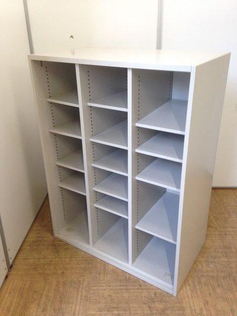 【棚板の高さ調節可能】レアな3列オープン書庫【靴箱や収納棚などに使い方の幅多数】