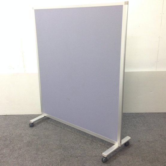【上品な紫】キャスター付きでラクラク移動♪イトーキ製パーテーション【自立式】
