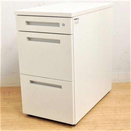 【作業効率UP!!】H720デスクのサイズ拡張に!ホワイト色の3段脇机 イトーキCZR