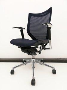 【オフィスで人気!限定1脚】 ダークブルー色のバロンチェア入荷!アームレスト付