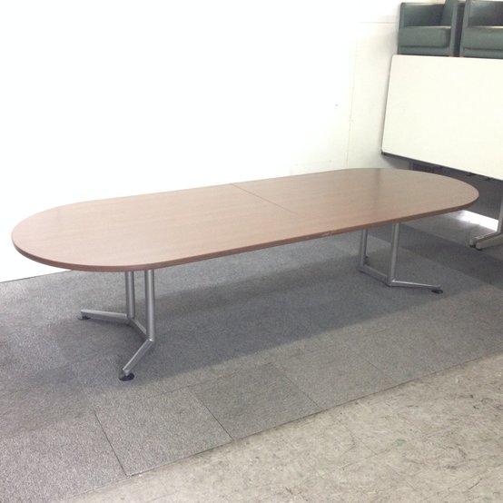 【中古】【レア】幅3200x奥行1200!大型楕円型ミーティングテーブル!定価30万以上の高級テーブルです【1台限定入荷】