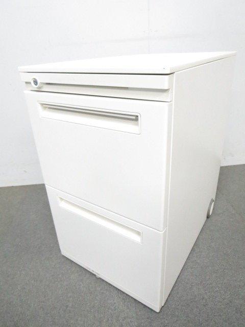 【使いやすさが人気!】流行のユニバーサルデザイン■3段ワゴン(H650mm)ホワイト