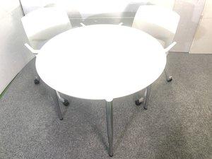 ◆限定2組◆~丸テーブル+チェアセット~打ち合わせスペースに安心感と柔らかさを与えてくれます!