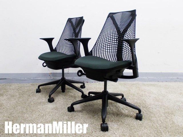 HermanMiller/ハーマンミラー セイルチェア 肘付2脚セット ノワール AS1YA23HA N2BKBBBKBK9115