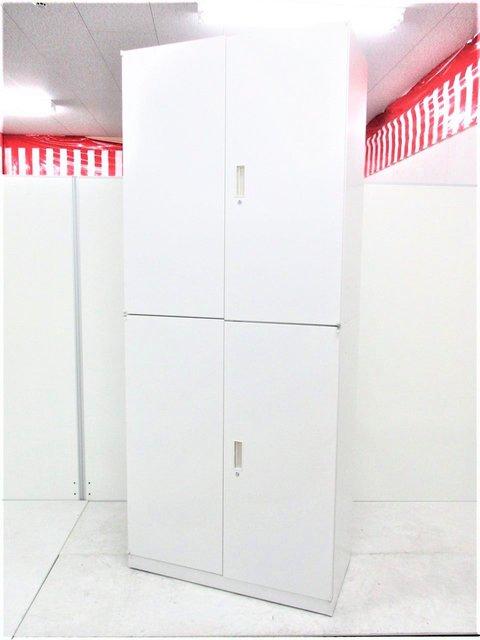 【状態良好11台入荷!】【書庫セット】上下両開きで使いやすいウチダ製ホワイト書庫