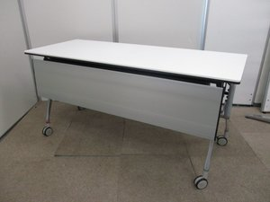 【オフィスの必需品】【会議室などで大活躍】W1500mmの人気のホワイトテーブル
